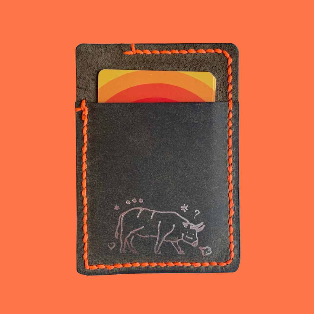 A.S.S. x Clark Morelia Card Wallet (gray/orange)