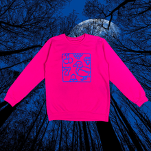 Load image into Gallery viewer, Lucky Duck Crewneck (blue on pink)