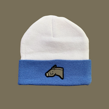 Load image into Gallery viewer, Stu Beanie (white/periwinkle)