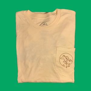A.S.S. x Sylvia Freeman Froggy Pocket Tee (cream)