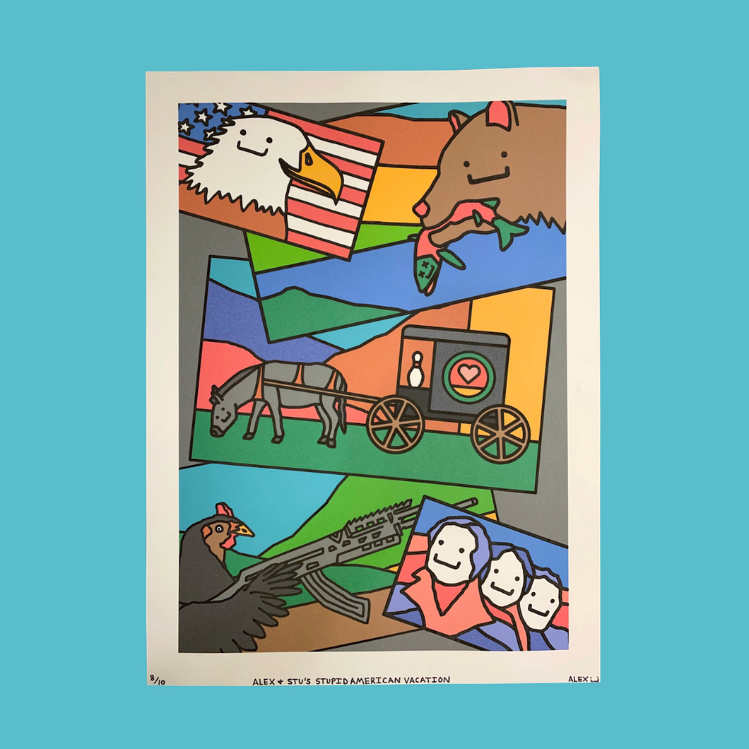Alex & Stu's American Vacation Print