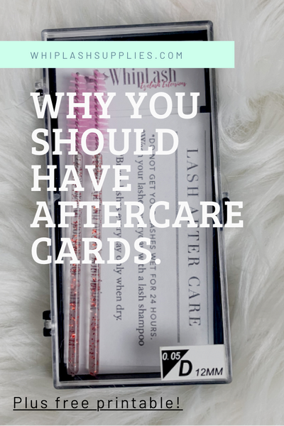 After Care Cards! FREE PRINTABLE!