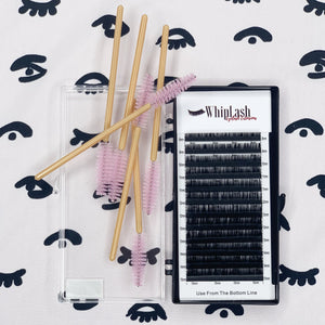 0.03mm Mega Volume Single Length Whiplash Supplies Eyelash Extensions.