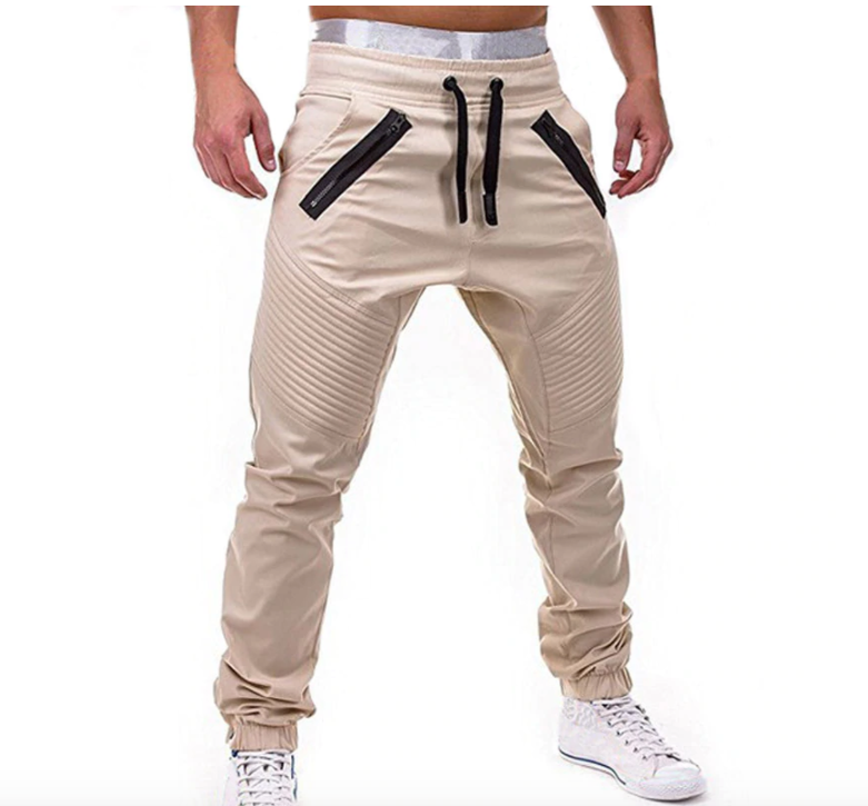 Casual Elastic Waist Drawstring Joggers - drip4men.com - Mens online fashion store for premium denim jeans and urban streetwear.