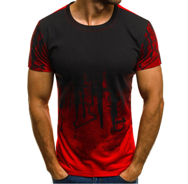 Ink Blotch Print Short-Sleeve T-Shirt - drip4men.com - Mens online fashion store for premium denim jeans and urban streetwear.