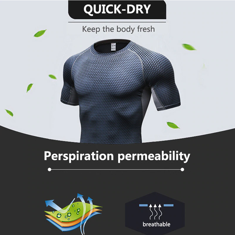 Rash Guard Compression Gym Outfit - drip4men.com - Mens online fashion store for premium denim jeans and urban streetwear.
