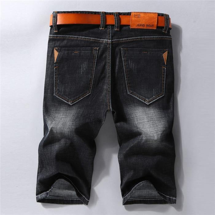 Black or Blue Stretchy Denim Shorts - Drip4Men™