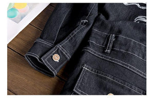 Detachable Sleeve Black Denim Onesie - drip4men.com - Mens online fashion store for premium denim jeans and urban streetwear.
