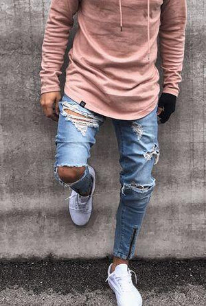 High Street Hip Hop Blue Jeans - drip4men.com - Mens online fashion store for premium denim jeans and urban streetwear.