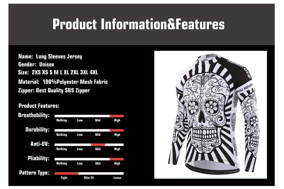 Sugar Skull Design Cycling Jersey - drip4men.com - Mens online fashion store for premium denim jeans and urban streetwear.