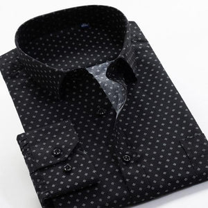 Printed Large Size Dress Shirt - drip4men.com - Mens online fashion store for premium denim jeans and urban streetwear.