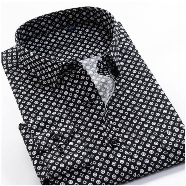 Printed Large Size Dress Shirt - Drip4Men™