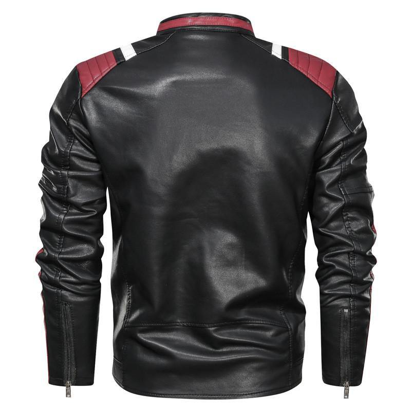 Vegan Leather Motorcycle jacket - drip4men.com - Mens online fashion store for premium denim jeans and urban streetwear.