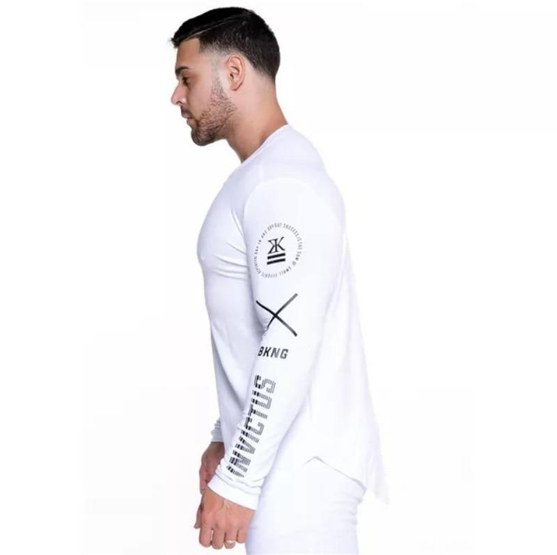 Long Sleeve Fitness Gym T-shirt - drip4men.com - Mens online fashion store for premium denim jeans and urban streetwear.