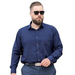 Plus Size Long Sleeve Dress Shirt - drip4men.com - Mens online fashion store for premium denim jeans and urban streetwear.