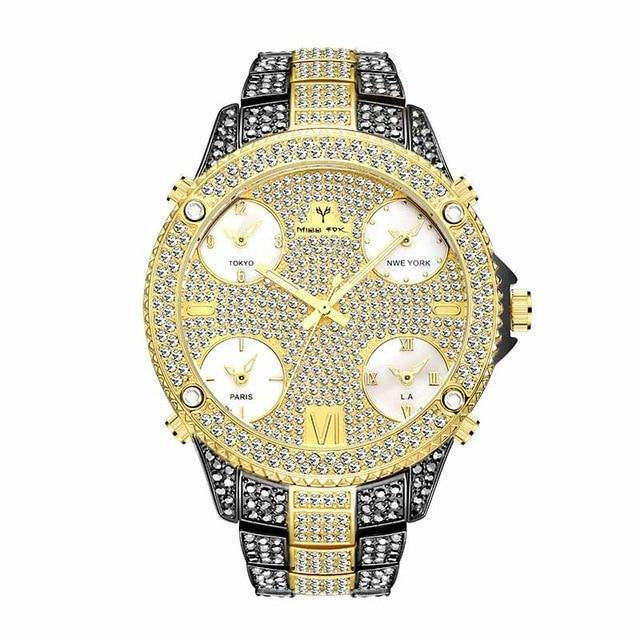 Large Dial Bling Fashion Watch - drip4men.com - Mens online fashion store for premium denim jeans and urban streetwear.