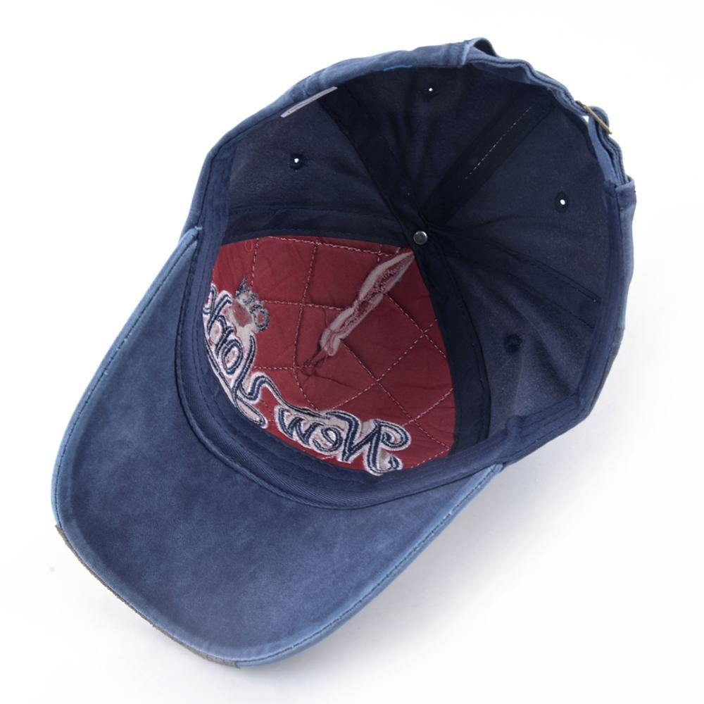 NYC Embroidered Denim Baseball Cap - drip4men.com - Mens online fashion store for premium denim jeans and urban streetwear.