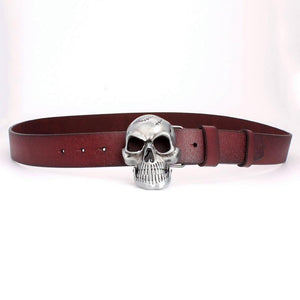 Cracked Skull Genuine Leather Belt - drip4men.com - Mens online fashion store for premium denim jeans and urban streetwear.