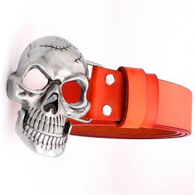 Cracked Skull Genuine Leather Belt - Drip4Men™