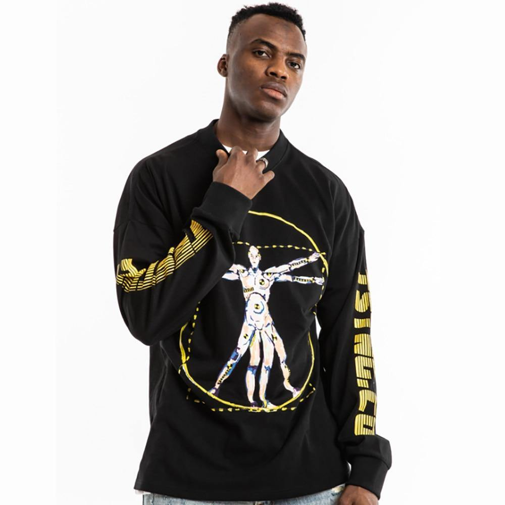 Retro Pullover Hip Hop T-shirt - drip4men.com - Mens online fashion store for premium denim jeans and urban streetwear.