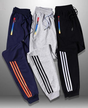Triple Stripe Casual Sweats Joggers - drip4men.com - Mens online fashion store for premium denim jeans and urban streetwear.