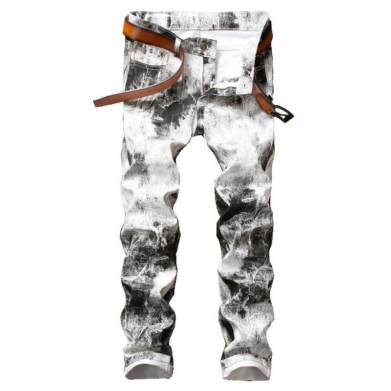 Black and White Painted Denims Jeans - Drip4Men™