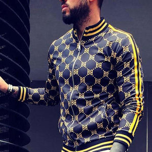 Popping Print Stretchy Track Jacket - drip4men.com - Mens online fashion store for premium denim jeans and urban streetwear.
