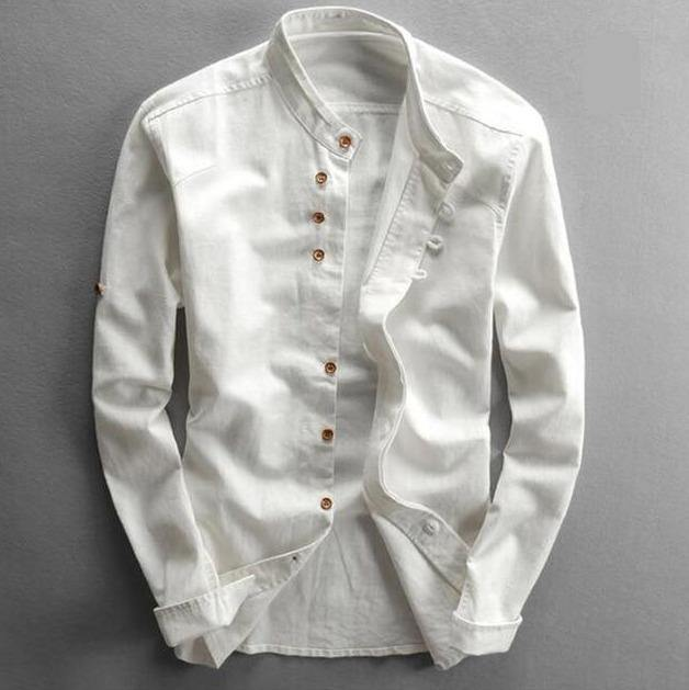 Cotton Linen Long Sleeved Shirt - Drip4Men™