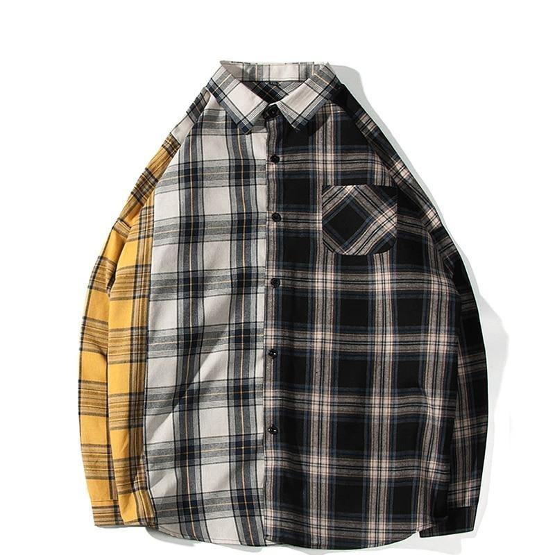 Multi Tone Cotton Plaid Shirt - drip4men.com - Mens online fashion store for premium denim jeans and urban streetwear.
