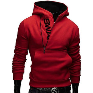 Offset Zipper 2 Tone Hoodie - drip4men.com - Mens online fashion store for premium denim jeans and urban streetwear.