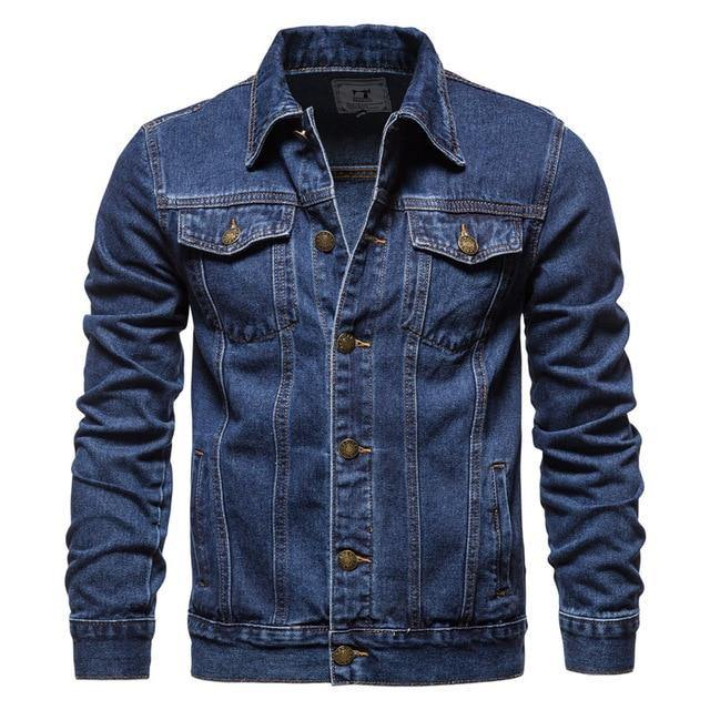 Clean Dark Blue Denim Jacket - drip4men.com - Mens online fashion store for premium denim jeans and urban streetwear.