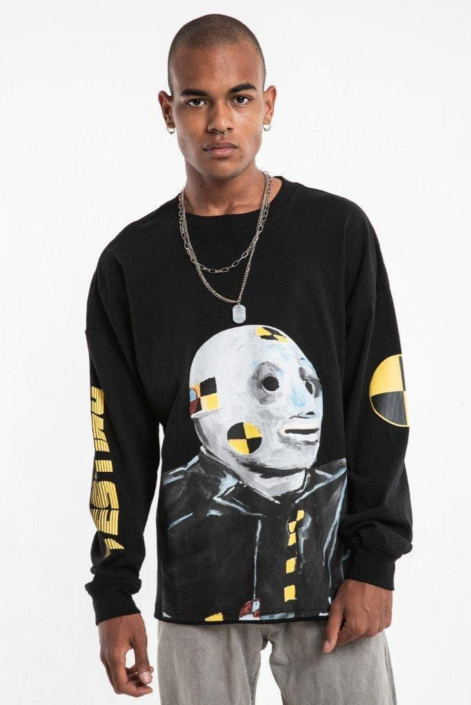 Crash Test Dummy Long Sleeve T-Shirt - drip4men.com - Mens online fashion store for premium denim jeans and urban streetwear.