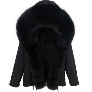 Thick Black Fur Hooded  Jacket - drip4men.com - Mens online fashion store for premium denim jeans and urban streetwear.