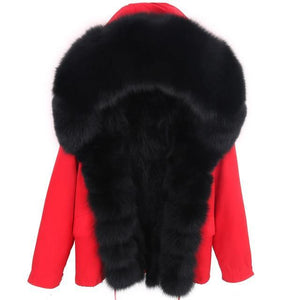 Thick Fur Choice Red Jacket - drip4men.com - Mens online fashion store for premium denim jeans and urban streetwear.