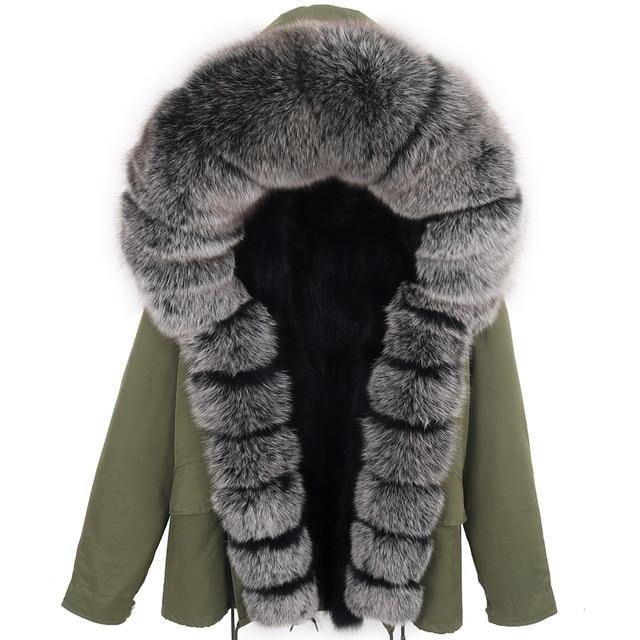 Thick Silver Fur Hooded Jacket - drip4men.com - Mens online fashion store for premium denim jeans and urban streetwear.