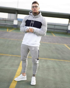Choice Hooded Patchwork Sweatsuit Sets - drip4men.com - Mens online fashion store for premium denim jeans and urban streetwear.