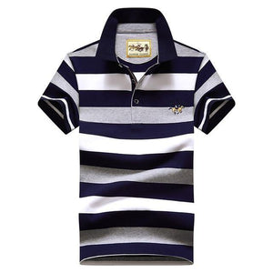 Selection Striped Casual Polo Shirt - drip4men.com - Mens online fashion store for premium denim jeans and urban streetwear.