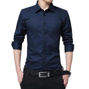 Cotton Polyester Long Sleeve Shirt - drip4men.com - Mens online fashion store for premium denim jeans and urban streetwear.