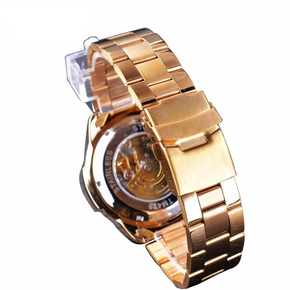 Visible Movement Self Winding Wristwatch - drip4men.com - Mens online fashion store for premium denim jeans and urban streetwear.