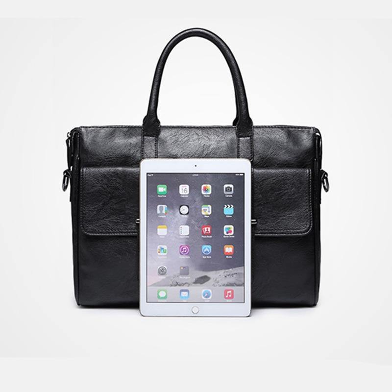 PU Leather Shoulder Briefcase Bag - drip4men.com - Mens online fashion store for premium denim jeans and urban streetwear.