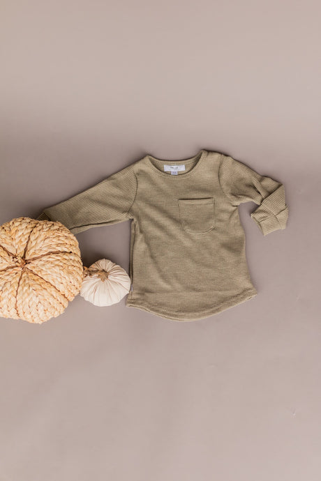 knit long sleeve - olive