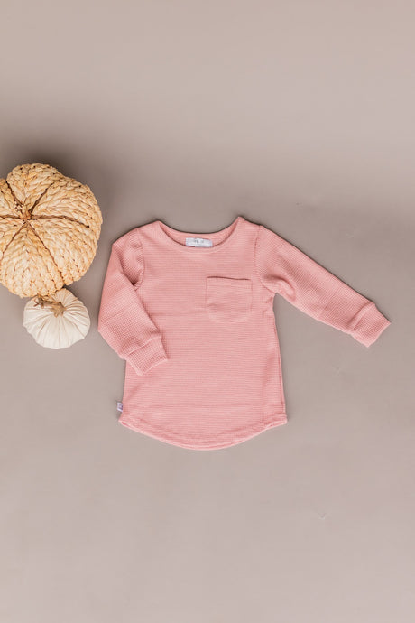 knit long sleeve - rose