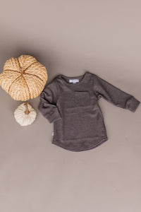 knit long sleeve - charcoal