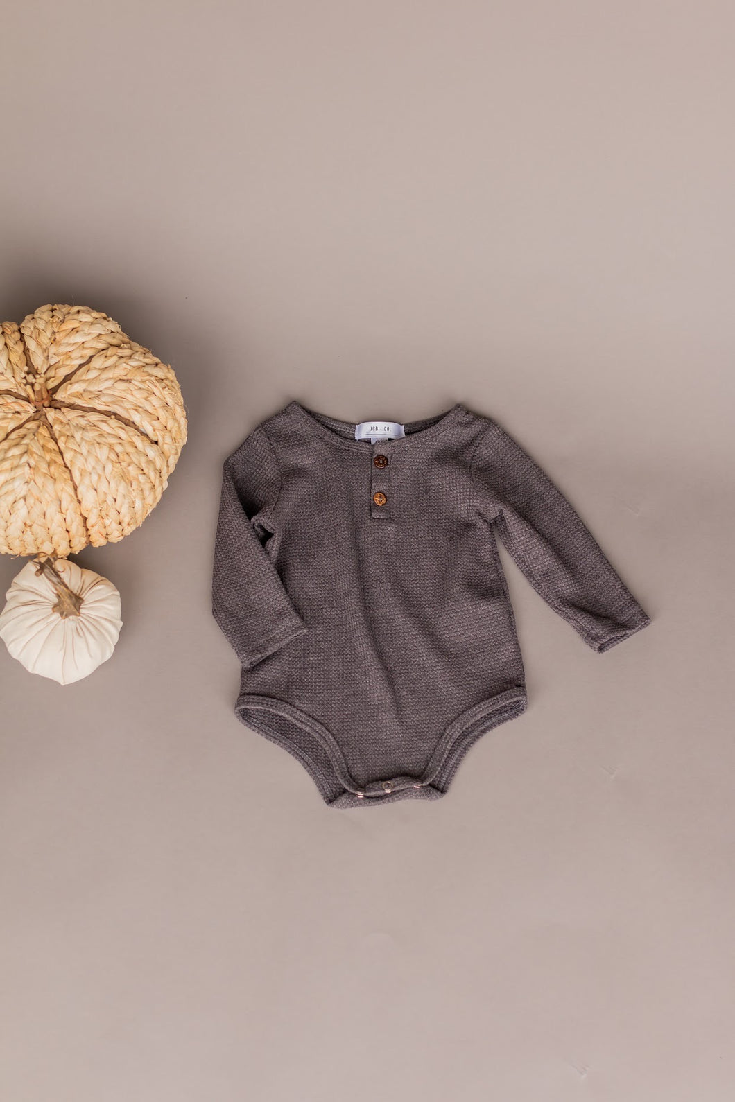 knit onesie - charcoal