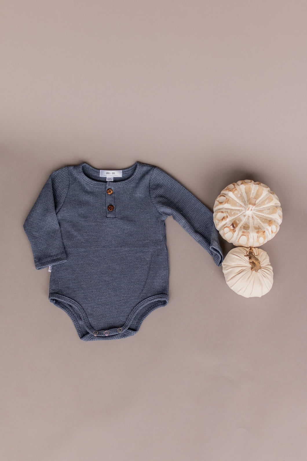 knit onesie - blue