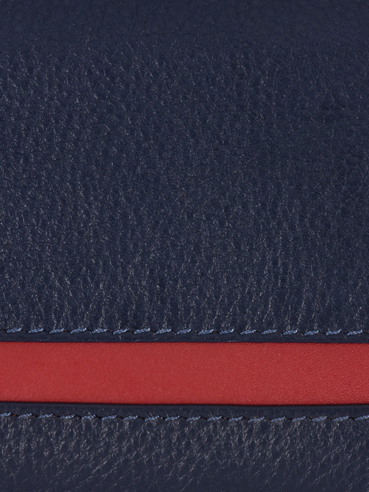 Phive Rivers Men's Leather Navy Wallets