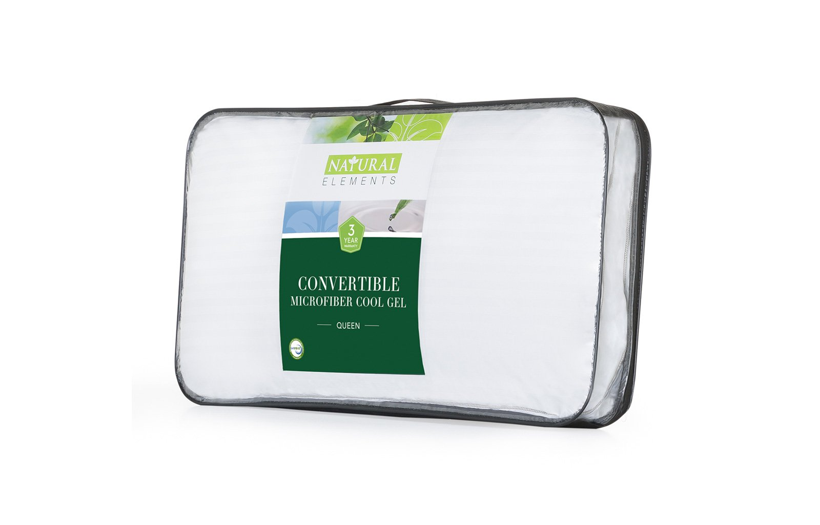 Convertible Microfiber Cool Gel Pillow