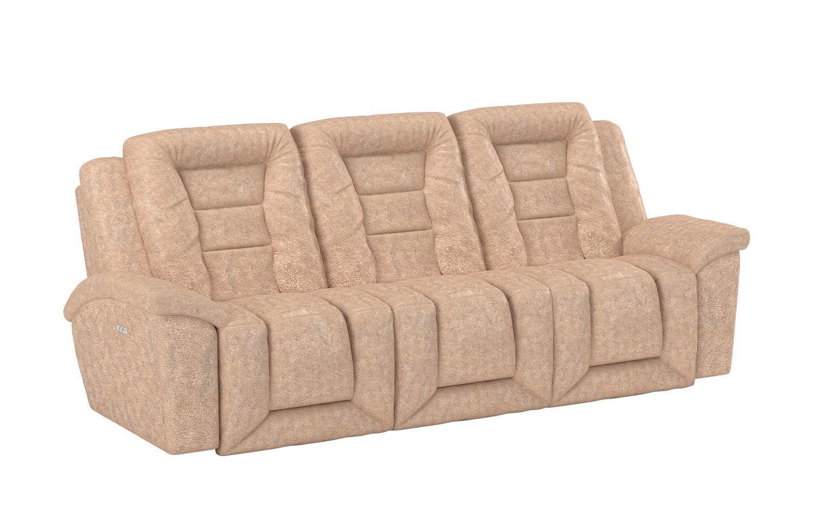 Grid Iron Power Reclining Sofa