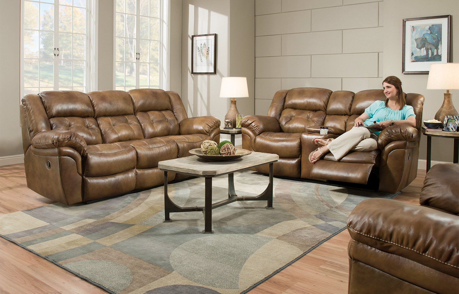Thomas Leather Power Reclining Loveseat
