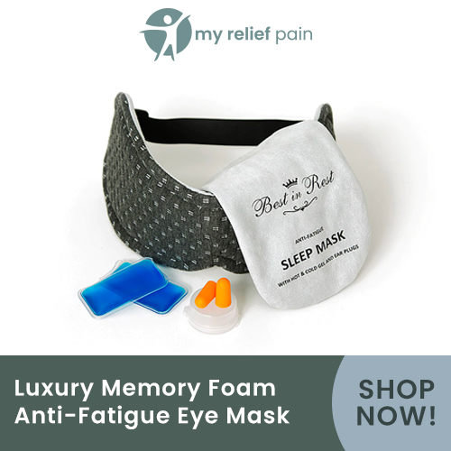 luxury memory foam anti-fatique eye mask